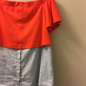 Anthro Postmark Layered Off-the-shoulder Tunic